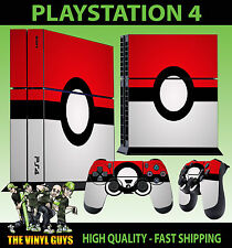 PS4 Piel POKEBALL POKEMON GO Bola PIKACHU + Pad pegatina vinilo Stood