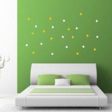 adesivi margherite stickers 24 fiori  vetri muri porte mobili cassetti