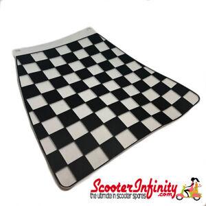 Mudflap Black White Chequered / Check (Universal Fitment) Vespa Lambretta MOD