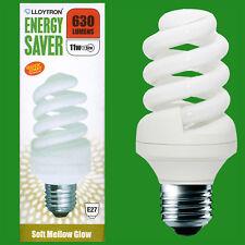 20x 11W (=52W) Basse Consommation 2700k Blanc Chaud Cfl Spirale Ampoule,E27