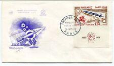 1964 Premier Jour D'Emission Historique FDC Exposition Philatelique Paris SPACE