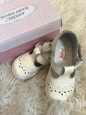 Angel Baby Shoes Girl Toddler Mary Janes Ecru Off Whte Leather
