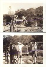 1930s Young Boys Climbing Fence Gate Jack London Beauty Ranch California Photos