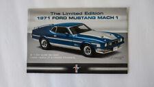 1971 Ford Mustang Mach 1 Brochure - By Danbury Mint