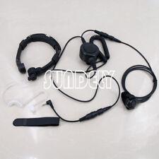 For Motorola Radio Military Throat Mic Headset/Earpiece T5720 T5725 T5800 T5820
