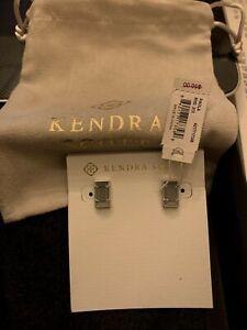 KENDRA SCOTT PAOLA EARRINGS NEW NWT SILVER W/ GREY (RHD 213 / 4217717358)