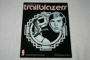 1971 Portland Trailblazers PROGRAM * vs Phoenix Suns 11-30-71 * Blazers
