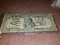 Counterfeit $5.00 1899 Indian Chief