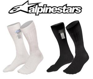 Alpinestars Rennsport Socken Nomex Fia 8856-2000 Ideal Für / Rally Schwarz Oder