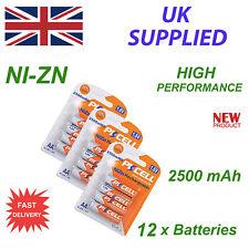 Ni-ZN 12 X 1.6 V AA 2500 MWh PK Celular Batería de alta performance recharable