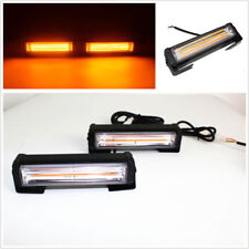 2 Pcs/Set 12/24V Amber COB LED Car Flash Strobe Beacon Lights Hazard Alert Lamps