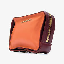 CAMILLA AND MARC!!! Smart 'Camilla and Marc' two tone, zippered leather pouch