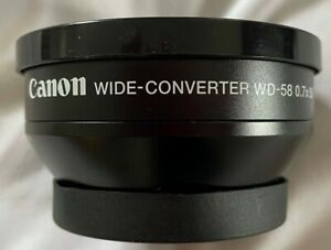 Canon WD-58 Lens Wide-Converter 0.7X58 For photo & video w/ leather canon pouch