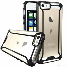 Poetic For iPhone SE / 5 / 5S TPU Bumper Slim Shockproof Cover Case Black/Clear