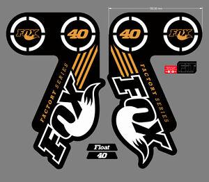 FOX 40 FORK DECAL SET