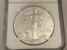 2012 USA .999 Fine 1oz Silver Eagle Coin Early Release NGC MS70 Blue Label
