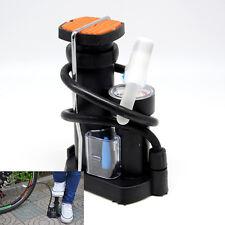 Motorcycle Bicycle Air Pump Wheel Tyre Pedal Inflator Pump With Pressure Gauge