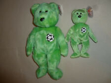 NEW W TAG TY BEANIE BABIES BABY BEAR KICKS SET LOT SOCCER CLUB LARGE SMALL FIFA