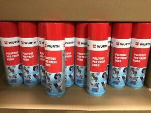 10x Pulitore per freni Wurth 500 ml Spray Rapida Evaporizzazione