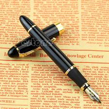 Jinhao X450 Fountain Pen Black Medium Nib Gold Trim New