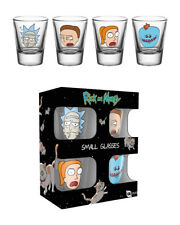 GB Eye Ltd Rick and Morty Faces Shot Glasses 4 X 20ml Glassware Set