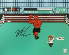"""Mike Tyson Autographed/Signed 16x20 Nitendo """"Punch Out"""" Photo JSA 154602"""