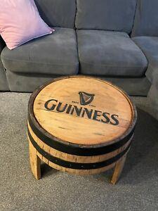 Oak Whisky Barrel Coffee Table Guinness