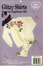 Cute Loot - Glitzy Shirts - Iron on Applique Kit - Adhesive Backed- Noel