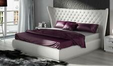 ESF Miami Carmen White Queen Bed Eco-Leather Modern Contemporary Made in Spain