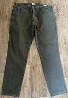 Gap vintage slim fit chinos 36/32 Green Grey