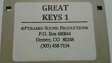KURZWEIL ~ Great Keys 1 ~ Floppy Disk 100 Progarms K2XXX w/VAST PROGRAMMINGS!!!