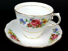 Colclough Vintage Bone China Tea Cup and Saucer Floral Pink Rose England