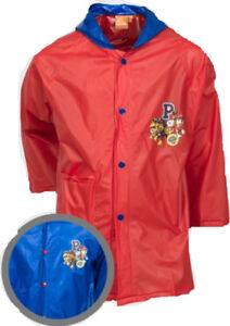 Nickelodeon Official Paw Patrol Boys PVC Raincoat Red & Blue Age 3, 5, 8