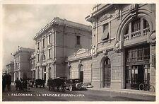 310) FALCONA (ANCONA) STAZIONE FERROVIARIA AUTOMOBILI CAFFE' RISTORANTE VG 1949.