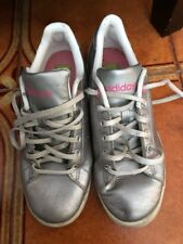 Ladies Silver Adidas Casual Shoes. Size US 5.5