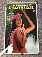 Vintage Circa 1970s  State of Hawaii Visitors Bureau Poster Islands of Hawaii