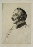 F. BURGER (*1867), Porträt Wilhelms II, König v. Preußen, um 1900, Rad.