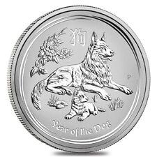 Australia Lunar Dog 2018 50 Cents 0,5 OZ (15,575 gr.) Argento 999 Silver CAPSULA