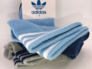 Women's ADIDAS Blue Shades Athletic Wicking Quarter Cut Socks. 3 PACK - $36 MSRP
