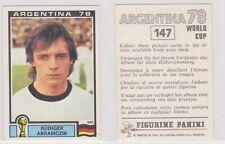 Panini sticker World Cup 1978 Argentina unused #147 Rudiger Abramczik Germany