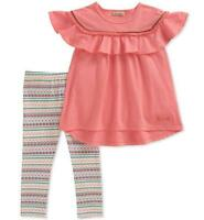 Lucky Brand Infant Girls Coral Tunic 2pc Legging Set Size 12M 18M 24M $50