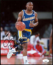 Tim Hardaway Signed Golden State Warriors 8x10 Photo JSA