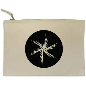 'Abstract Star Motif' Canvas Clutch Bag / Accessory Case (CL00020335)
