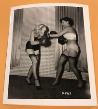 4 X 5 ORIGINAL NEGATIVE PHOTO FROM IRVING KLAW ARCHIVES Women Boxing Series 4567