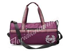 New Victoria's Secret PINK Gym Duffle Tote Bag Maroon Orchid Maldive Mist NWT