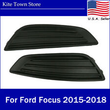 Pair Front Fog Light Lamps Covers Trim RH LH For Ford Focus 2015 2016 2017 2018