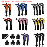 Andux Long Neck Golf Hybrid Club Head Covers with Interchangeable No. Tag