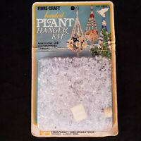 Vintage 1978 Beaded Plant Hanger Kit New Fibre Craft USA