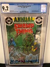 SWAMP THING Annual #2 CGC 9.2 WP Very 1st Justice League Dark - Key
