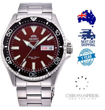 Orient Red Kamasu Sapphire Crystal RA-AA0003R19A Stainless Steel Mens Automatic